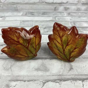 Fall Leaf  Salt Pepper Shakers Autumn Thanksgiving